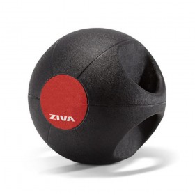 Gym Medicine Ball Con Agarre Doble Grip 3 Kg Ziva Dgmb-1503